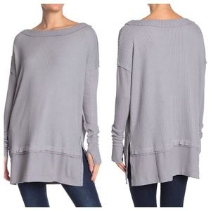 Free People North Shore Thermal Tunic L EUC